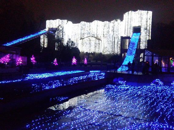 Busch Gardens Christmastown lights