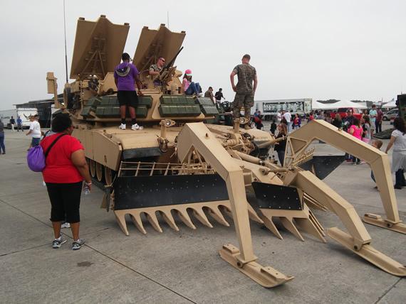 Cherry Point Air Show tank