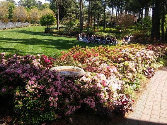 WRAL Azalea Garden wedding