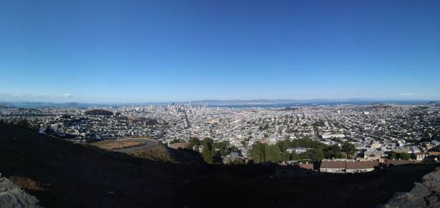 San Francisco Twin Peaks pano