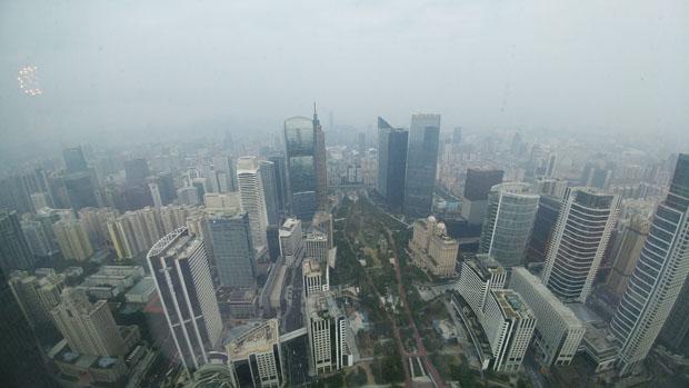 Guangzhou elevated view