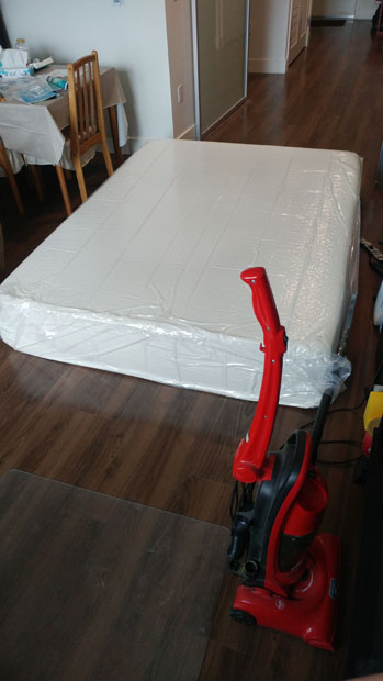 mattress before suction