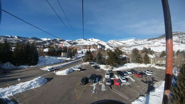 Park City Canyons Village parking cabriolet