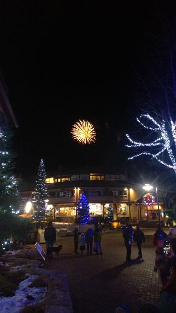 Whistler Village fireworks