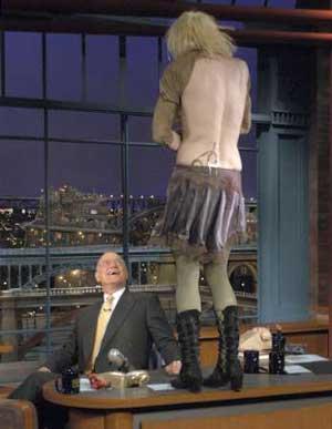 TonyRogerscom  Courtney Love Exposes Her Tits To David
