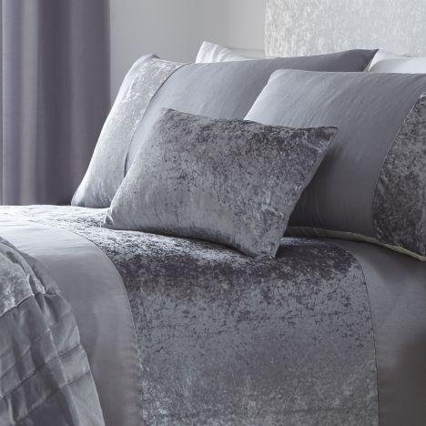 Boulevard  Crushed Velvet  Grey  Boudoir cushion