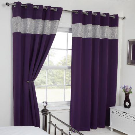 Carla Diamante Eyelet Blackout Curtains Tonys Textiles