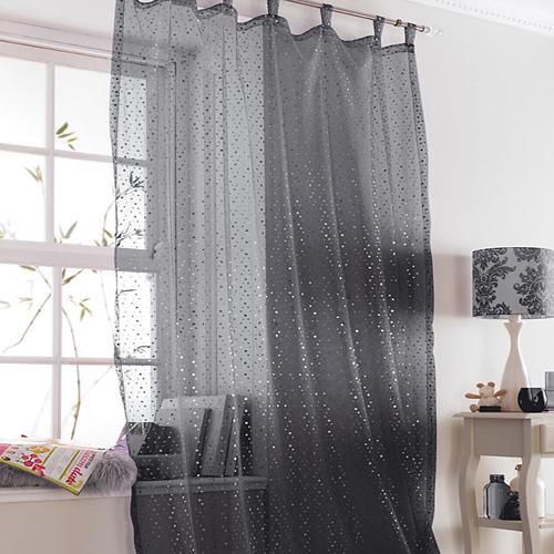 Popsicle Black Sparkle Voile Curtain Panel  Tonys Textiles