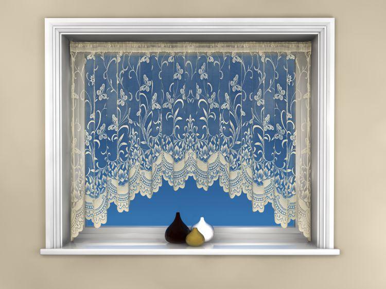 Butterfly  Jardinierre  Net Curtain  Cream  Tonys