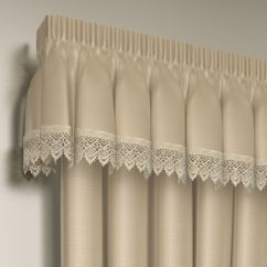 Kitchen Storage Boxes Aid Professional Lined Lace Embroidered Pelmet Valance | Tony's Textiles ...