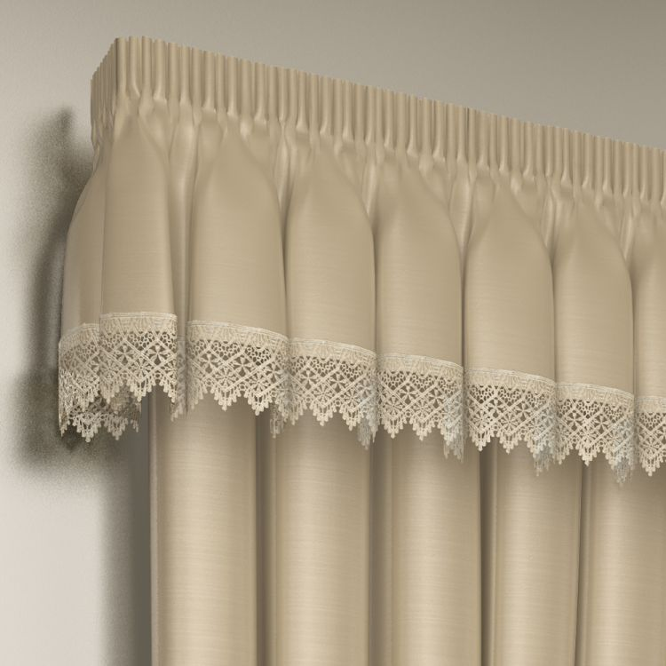 kitchen cushion mat corner sinks lined lace embroidered pelmet valance | tony's textiles ...