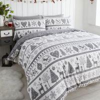 | Snowflake | Christmas | Reindeer | Duvet | Quilt | Cover ...