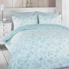 Kitchen Seat Covers Pull Out Shelves For Cabinets Toile Blue Birds Duvet Cover Set | Tonys Textiles
