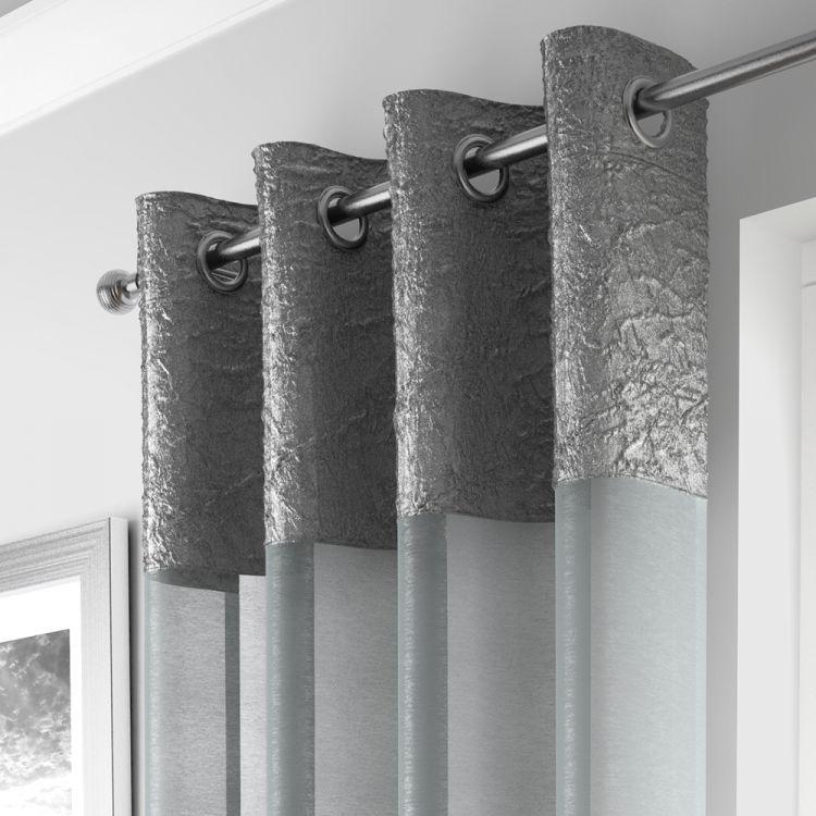 gray kitchen mat floor tile designs madeira   silver curtain panel voile tonys textiles
