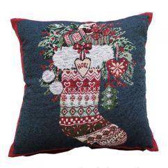 Machine Washable Kitchen Rugs Cabinet Showrooms Stocking | Christmas Festive Cushion Cover Tony's ...