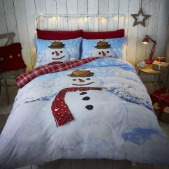 Kitchen Rugs Washable Light Covers Snowman | Reversible Tartan Duvet Cover Set Tonys ...
