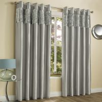 Amalfi | Silver | Crushed Velvet | Eyelet | Curtains ...