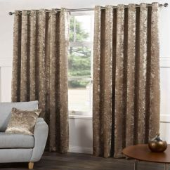 Kitchen Seat Covers Marshalls Champagne | Crushed Velvet Curtains Tony's Textiles ...