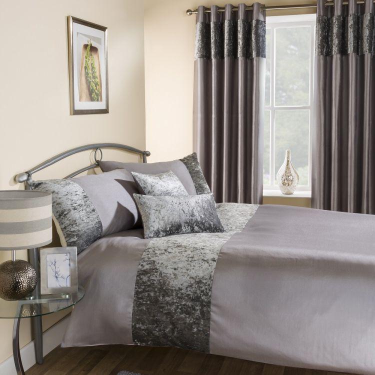 kitchen table sets for sale stainless steel shelves | amalfi silver crushed velvet quilt duvet cover ...