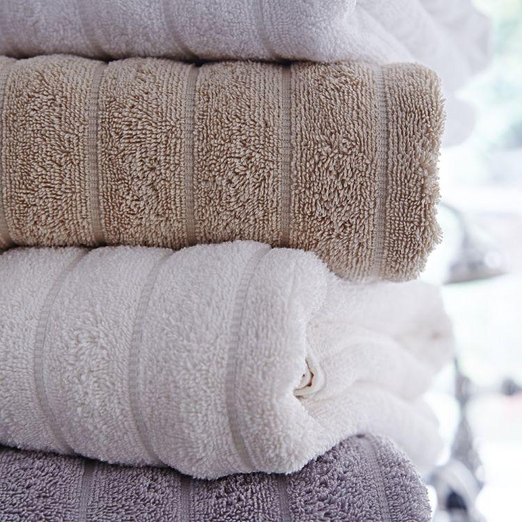 Bianca Cotton Soft  Towels  100 Cotton  Cream  Ivory