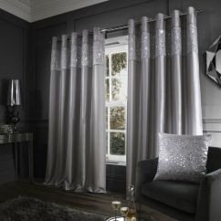 Grey Kitchen Mat Kids Play Accessories Glitzy | Sequin Fully Lined Eyelet Curtains Silver ...