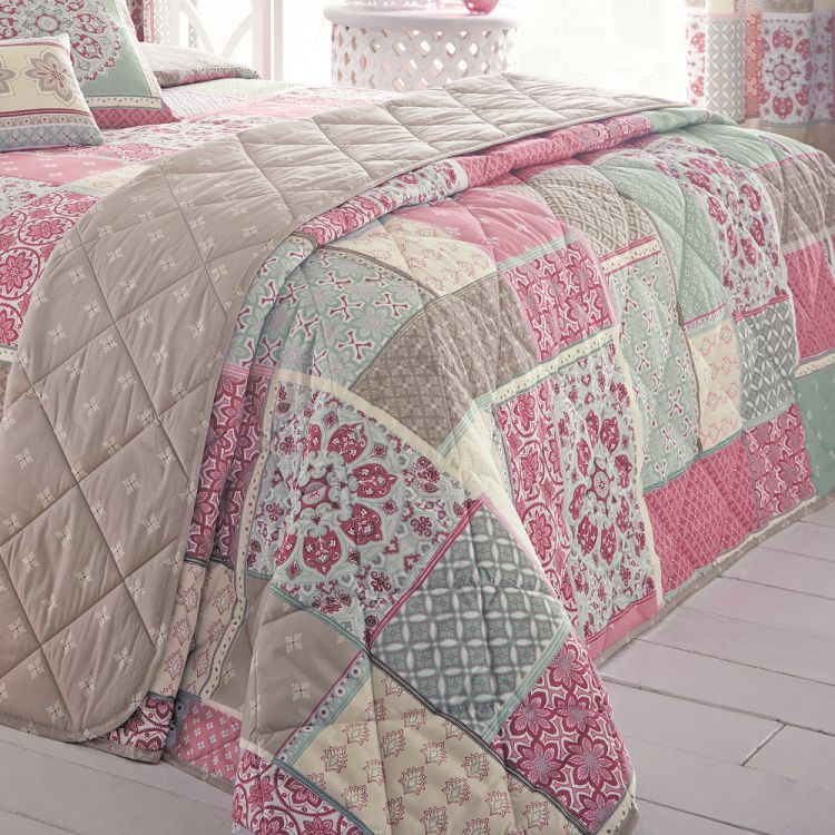 kitchen seat covers wood countertops shantar | patchwork pink bedspread tonys textiles