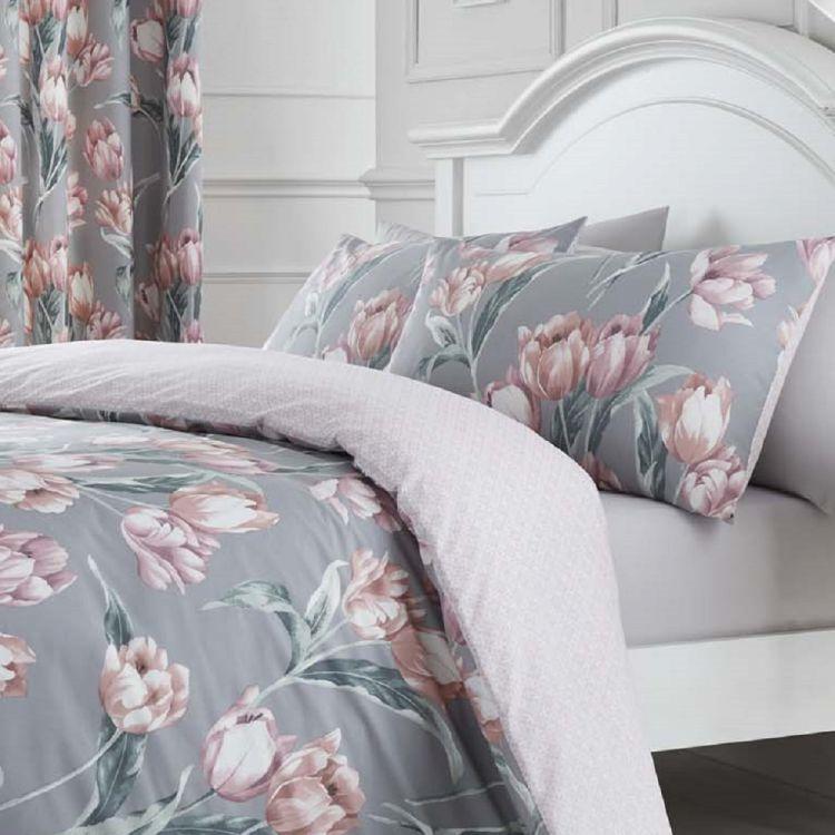 kitchen curtains sets wall tile ideas tulip floral | duvet cover set blush pink tonys textiles