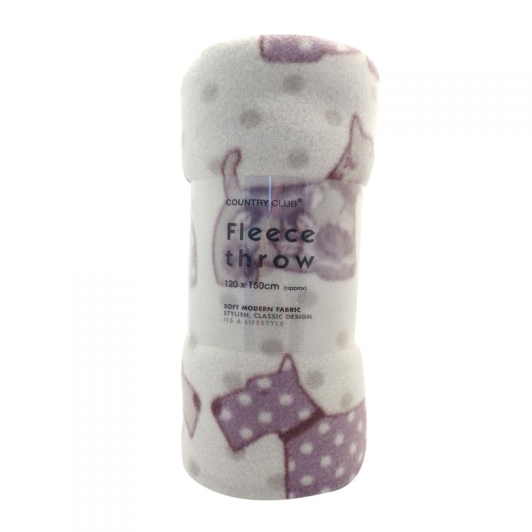 100 polyester sofa throws double loft bed with scottie dog | fleece throw lilac purple tonys textiles