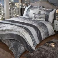 Glitter   Silver   Crushed Velvet   Quilt   Duvet   Cover ...
