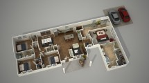 Create 3d Architecture Floor Plan Rendering