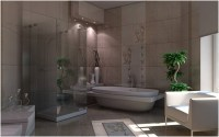 Architektur Innenraum Rendering: Volumen Licht in ...