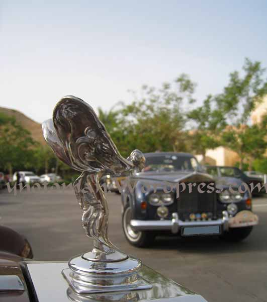 The Spirit of Ecstasy in Al Bandar's car park