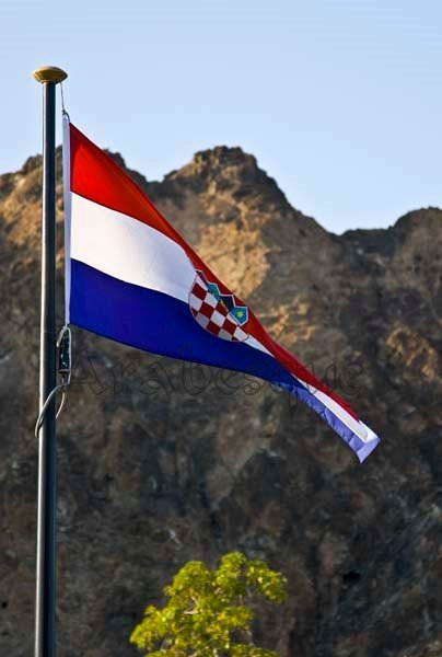Flags are out for the Croatian President's Visit