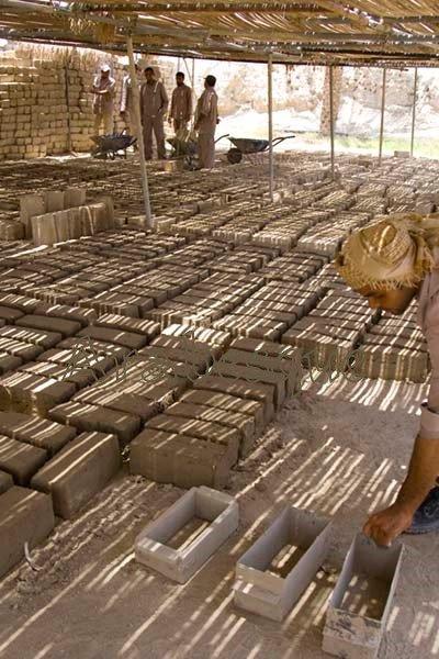 Bahla fort mud brick factory