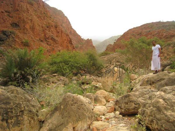 Hadi Al Hikmani in Jebel Samhan Oman