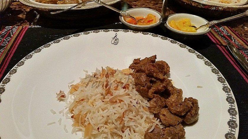 Al Angham mains Lamb and Rice