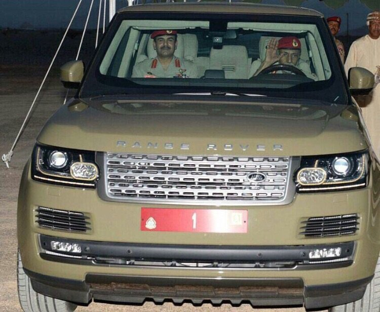 Sultan Qaboos departs from the site for the 'Oman Across Ages Museum'