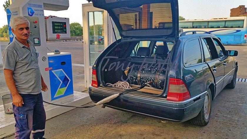 Gas powered Taxi - Gori Georgia