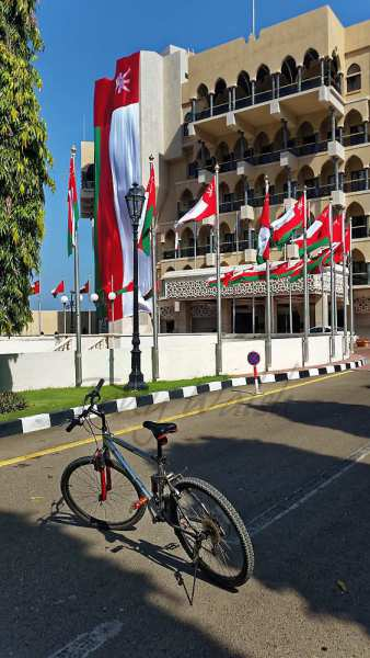 al bustan palace a lazy Cycle tour in Muscat
