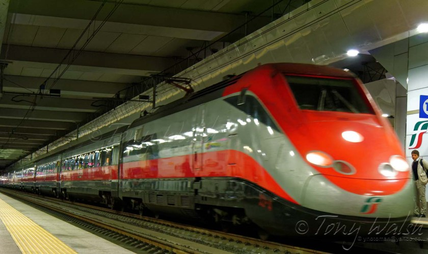 Train through Bologna