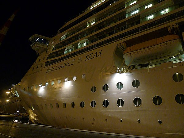 Brilliance of the Seas saying goodbye to Muscat