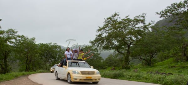 Car in Salalah Mountains