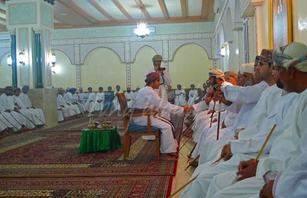 The official Omani wedding ceremony