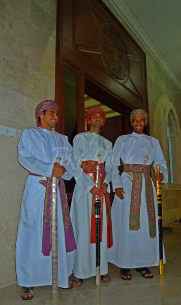 Three Omani Bridegrooms at Omani Wedding near Muscat