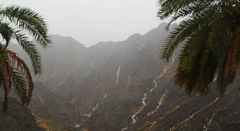 Waterfalls during Muscats rain