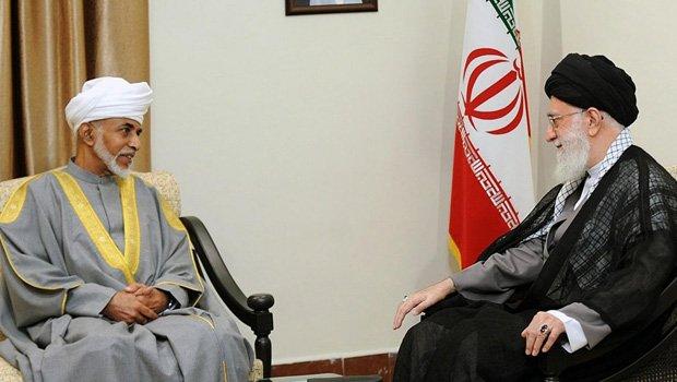 Sultan Qaboos (L) Ayatollah Ali Khamenei in August 2013