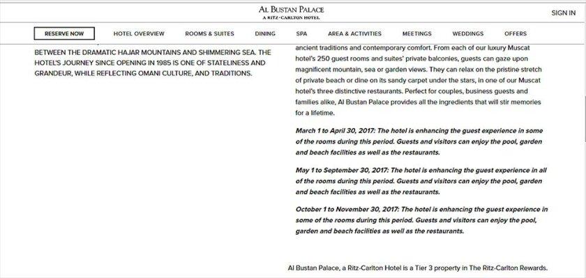 Al Bustan Palace Announcement