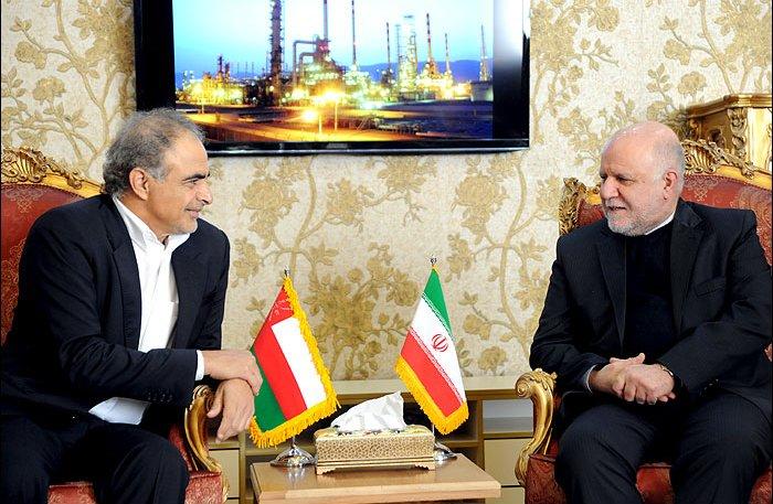 Oman's Mohammed Al Rumhi and Iran's Bijan Namdar Zangeneh