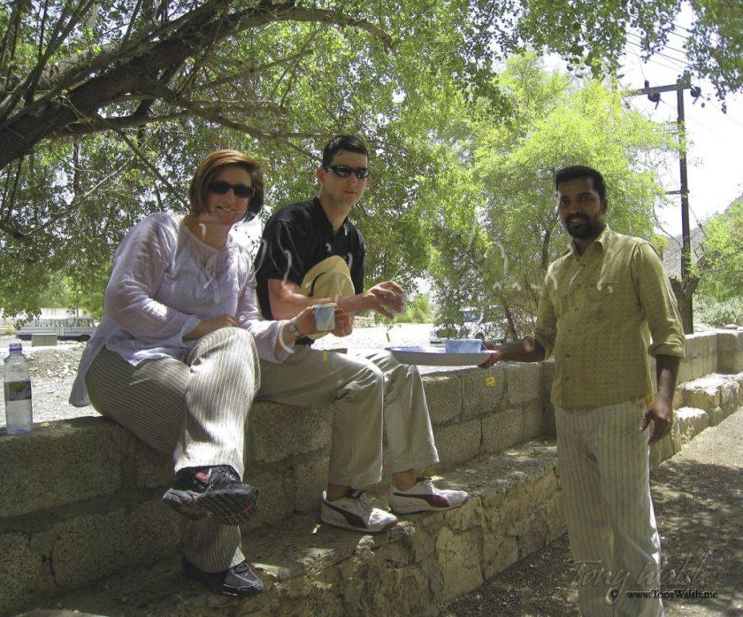 Tourists Celebratory Tea Break
