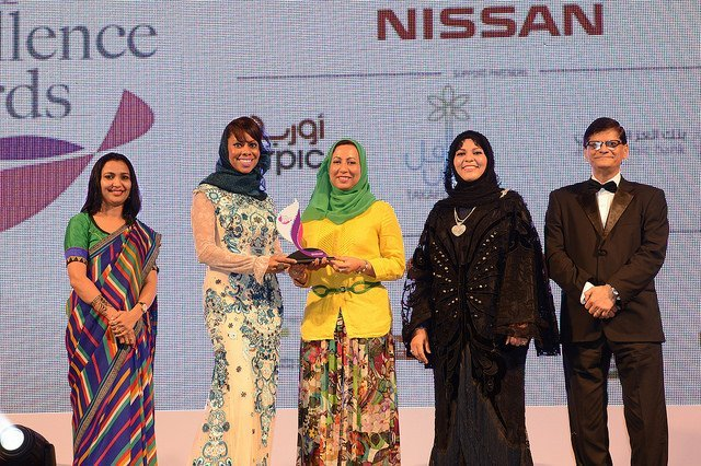 Haifa Al Khaifi 2nd left